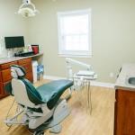 A patient care room at Farmington Dental Center in Farmington, AR.