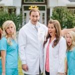 Dr. Gavin Trogdon, DDS with his staff at Farmington Dental Center in Farmington, AR