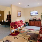 The comfortable waiting room at Farmington Dental Center in Farmington, AR