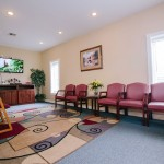 The comfortable waiting room at Farmington Dental Center in Farmington, AR