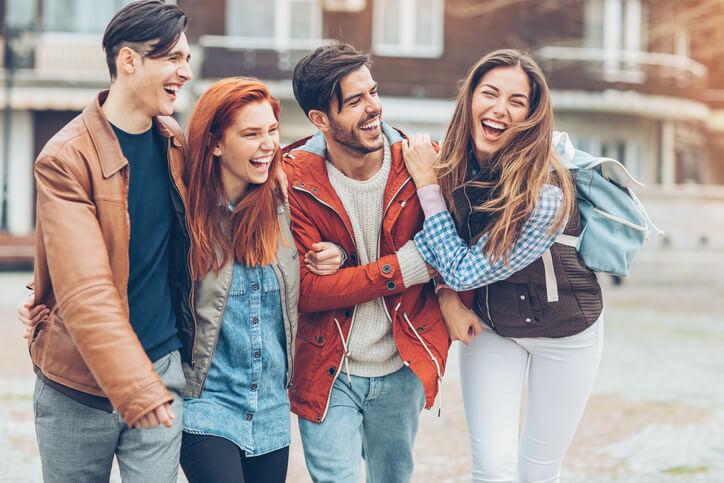 dentist in farmington - friends smiling